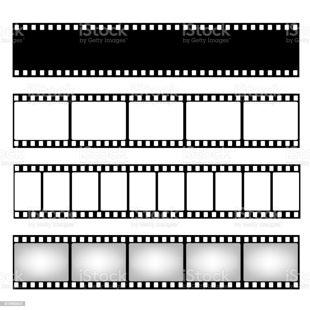 Film strip collection. Vector template. Cinema frame vector art illustration