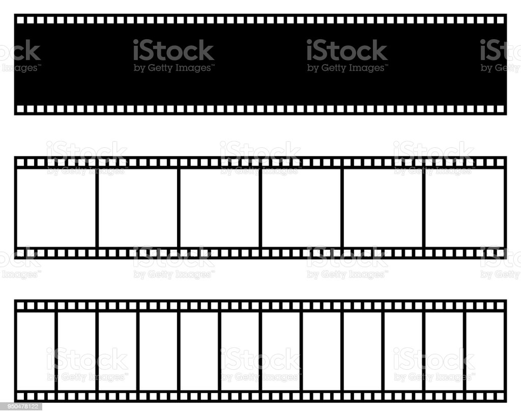 Filmsammlung Streifen Vektorvorlage Kino Film Foto Filmstreifen ...