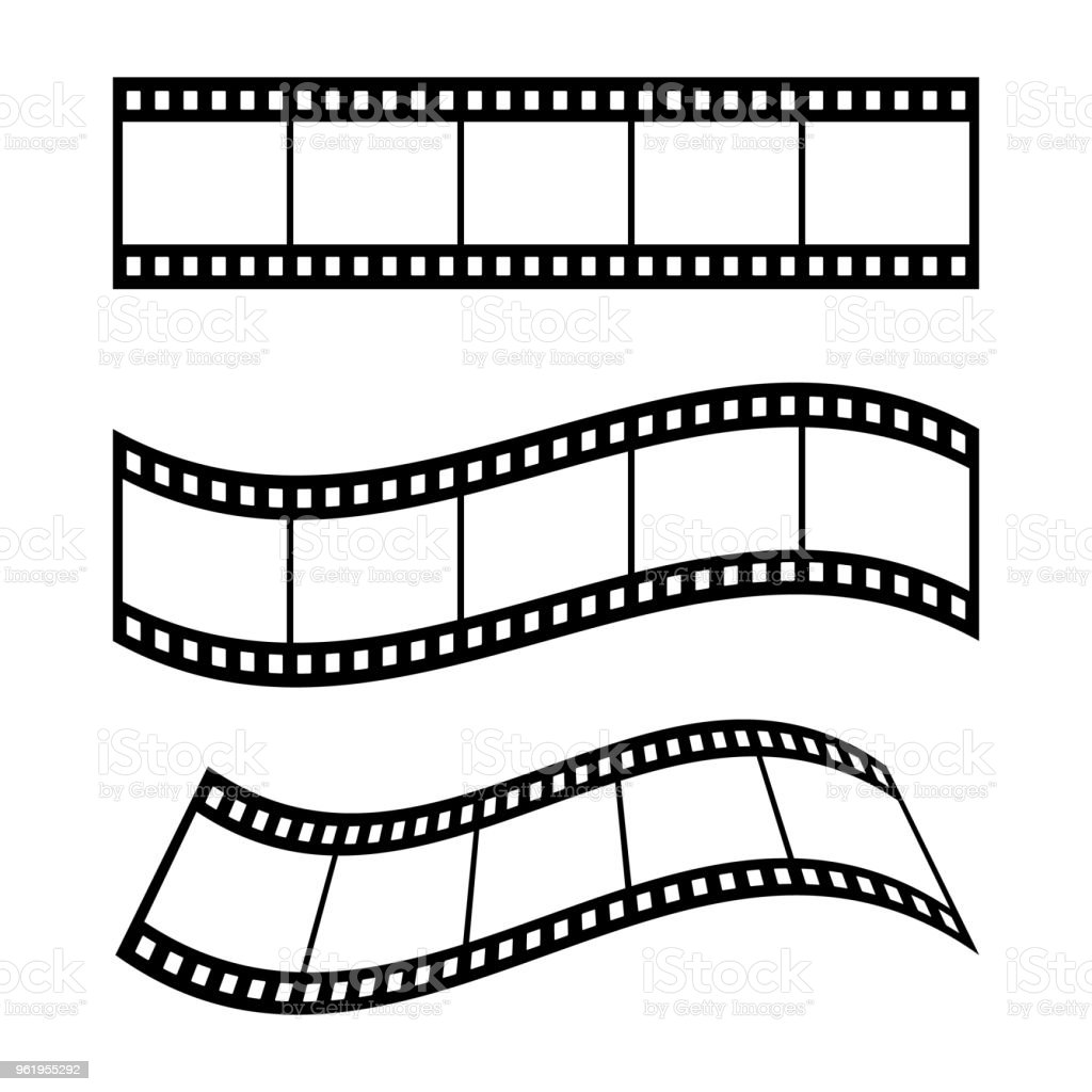 Film Strip Frame Blank Illustration Stock Vector Art & More Images ...