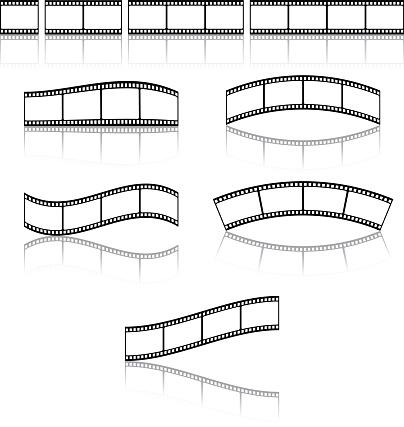 Film strip frame or border set.