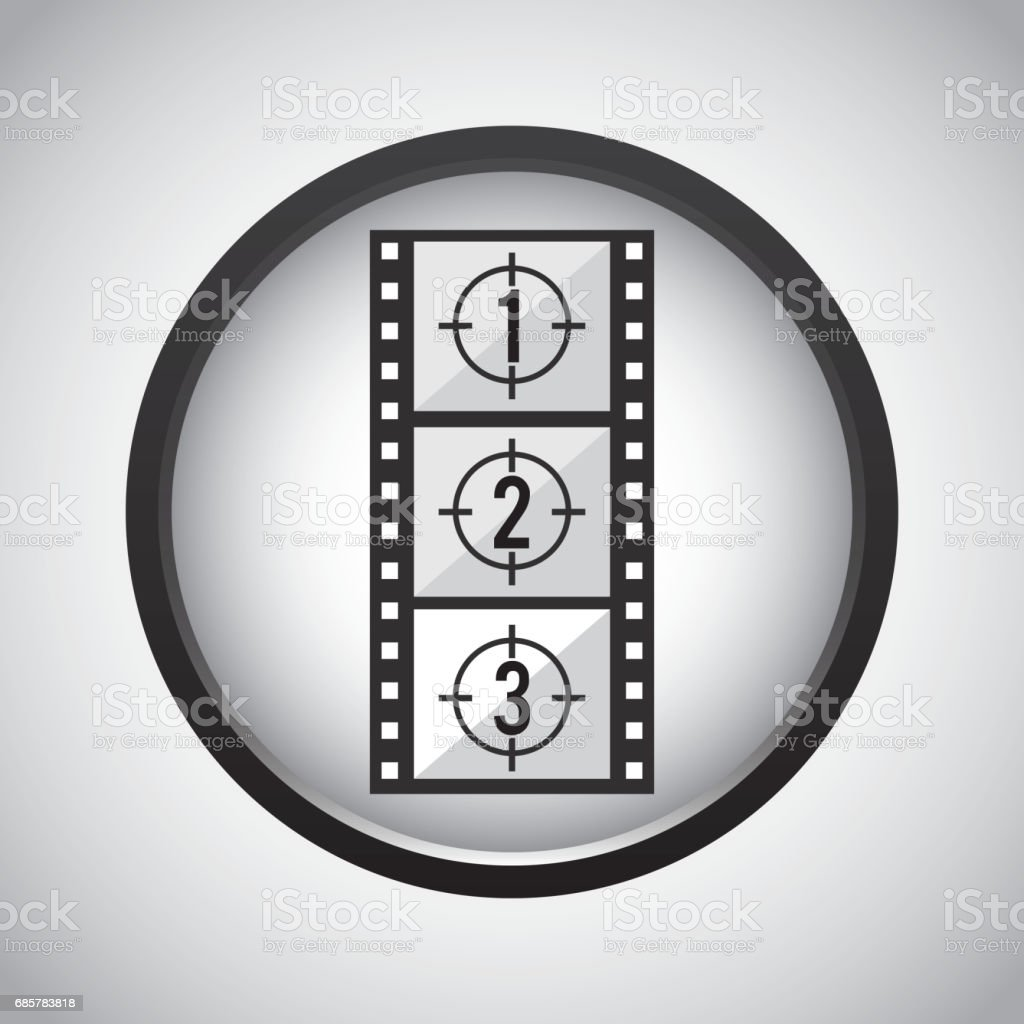 Film strip icon. Movie design. Vector graphic royalty-free film strip icon movie design vector graphic stock vector art & more images of advertisement