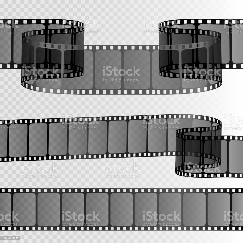 film strip picture template - film strip isolated on transparent background movie reel