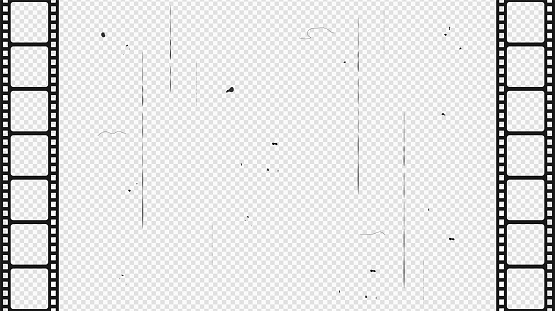 Film strip isolated on transparent background. Vector illustration.