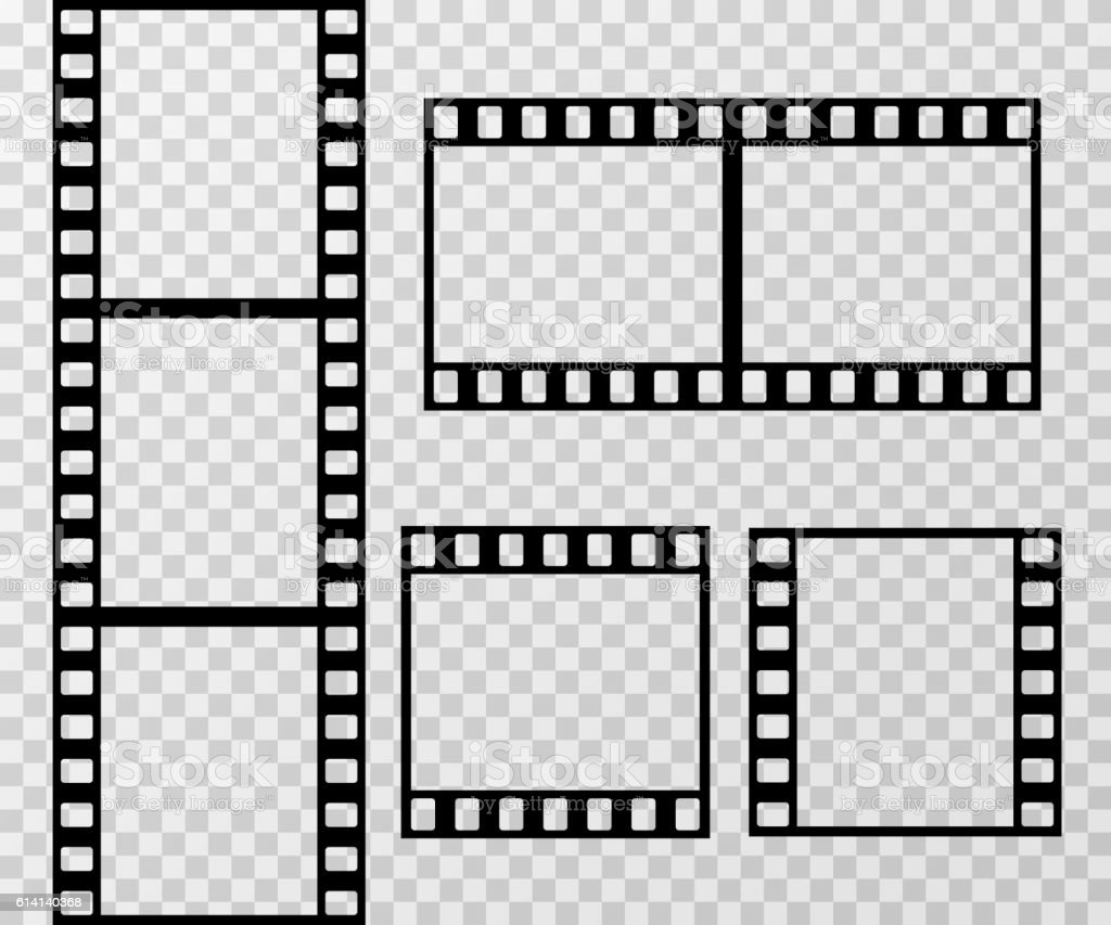 Film Strip Template | Film Strip Photo Frame Vector Template Isolated On Transparent