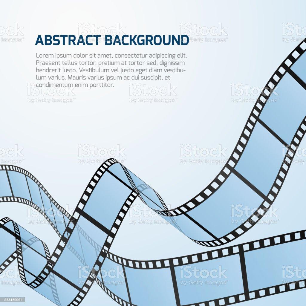 Film strip roll vector cinema background vector art illustration