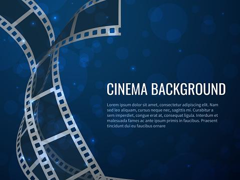 Film strip set. Cinema strip roll 35mm blank slide frame, photo video monochrome picture negative vintage media, vector movie design