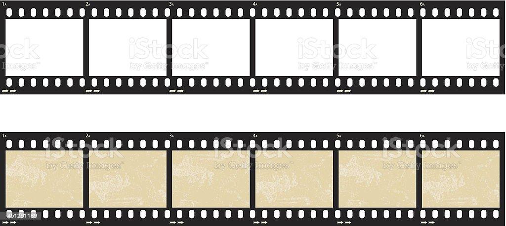 Film Strip Set vector art illustration