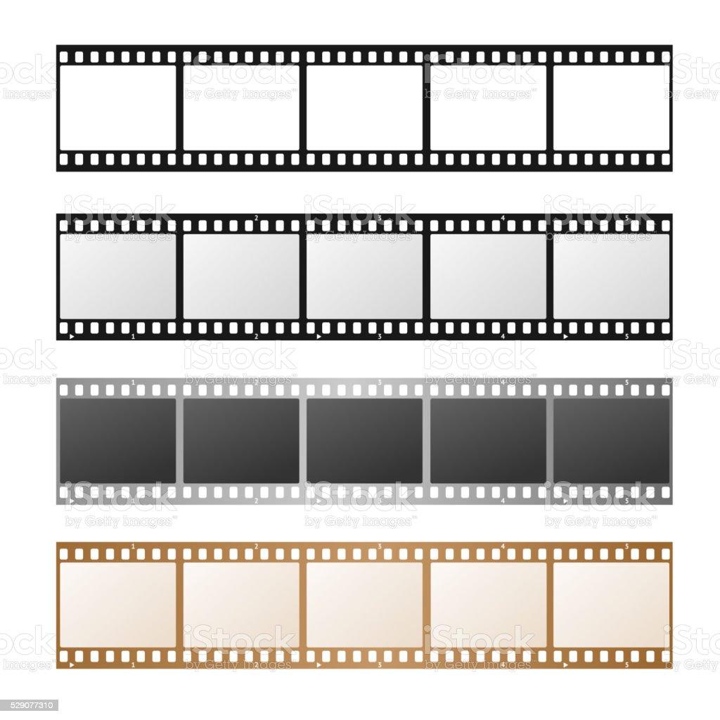 Film Strip Set. Vector vector art illustration