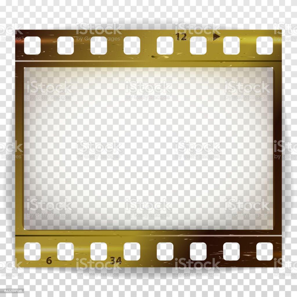 Film Strip Vector Cinema Of Photo Frame Strip Blank Scratched ...