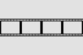 istock Film strip vector design element. Retro design frame. 1284562742