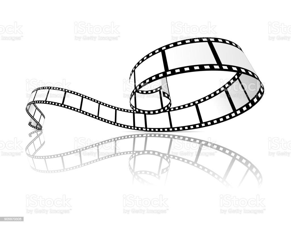 Film strip vector illustration vector art illustration