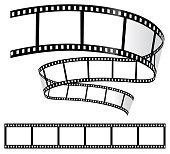 Film Strips on White