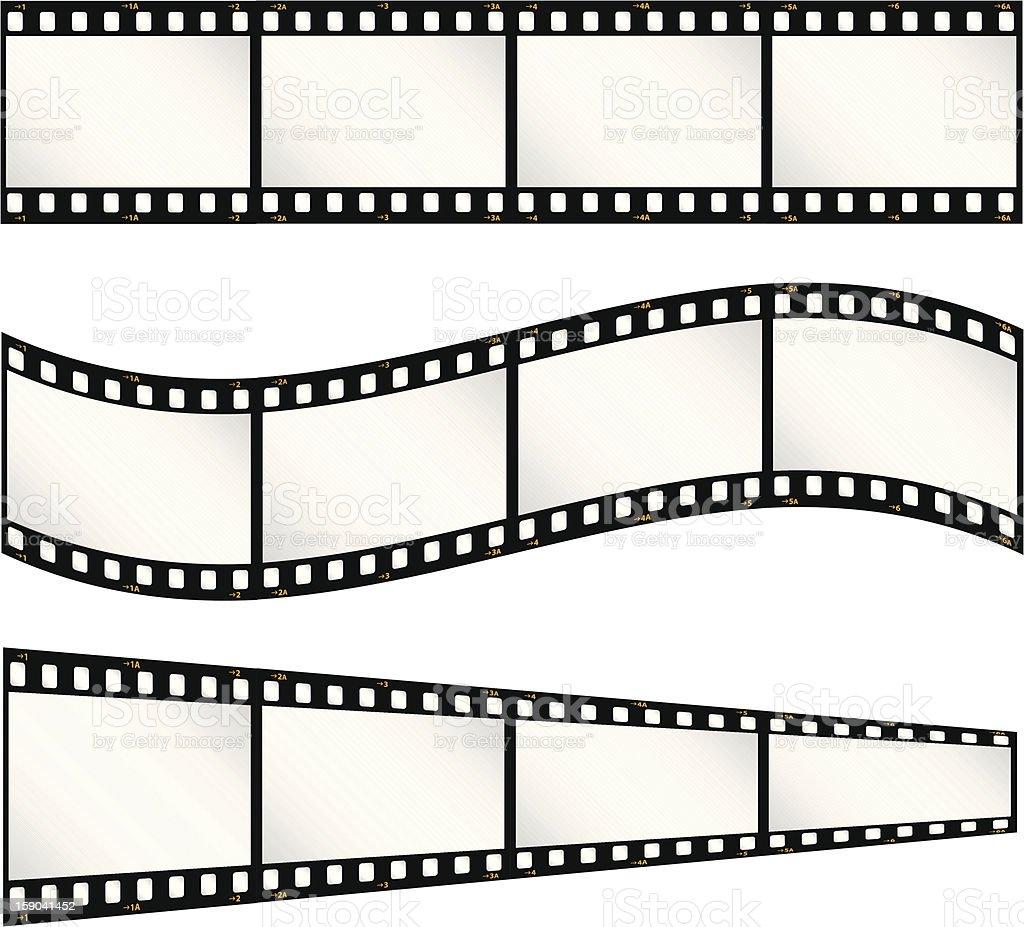 Film strips vector art illustration
