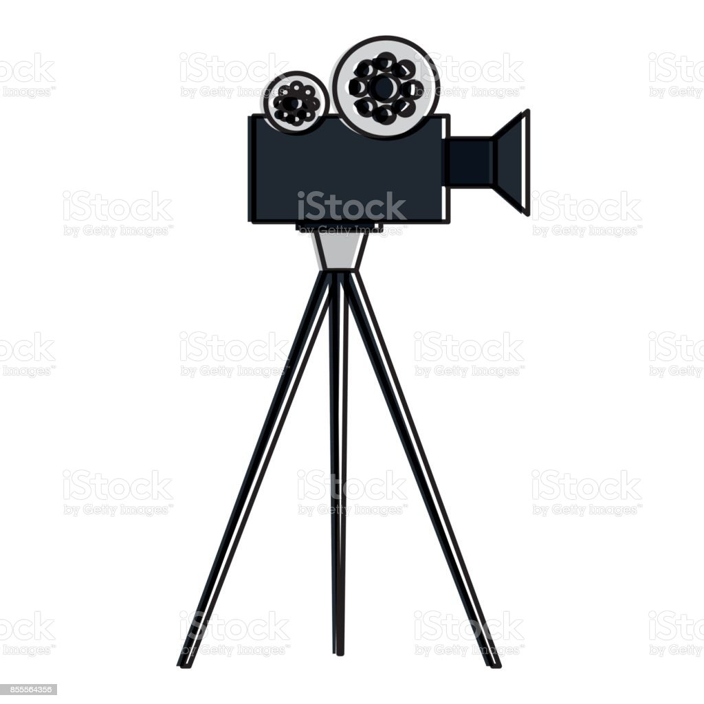 film video camera with tripod stock vector art amp more