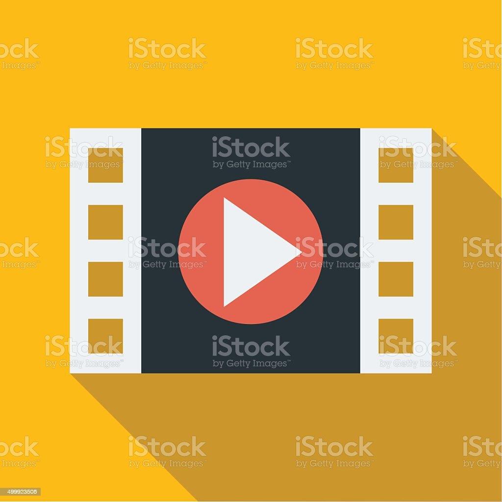 Filmstrip movie play icon - VECTOR vector art illustration