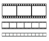 Filmstrip set illustration vector illustration