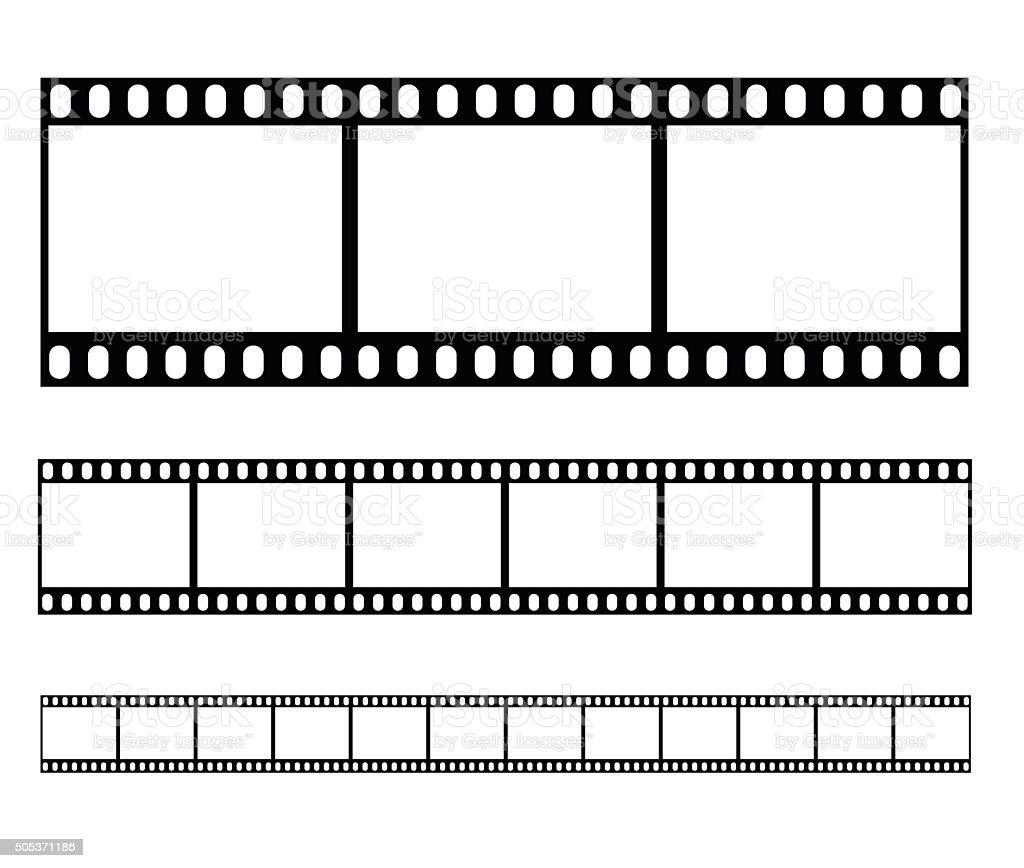 Filmstrip set illustration vector illustration vector art illustration