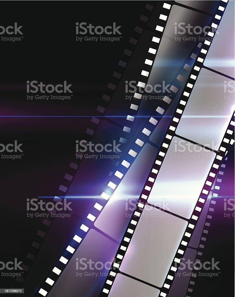 Filmstrips vector art illustration