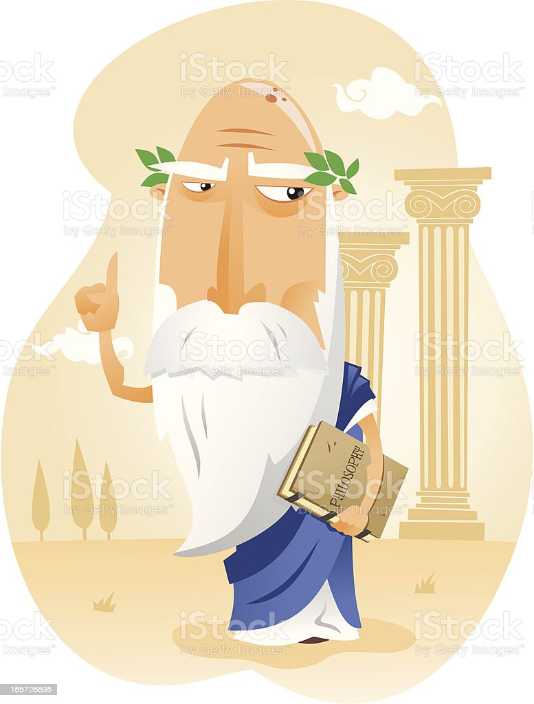 Filósofo de la Antigua Grecia royalty-free stock vector art