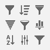 istock Filter icon vector set 872885634