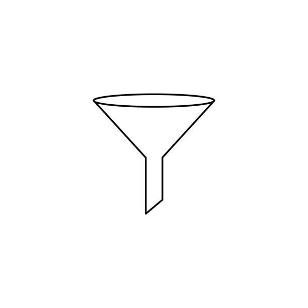 filter linear icon vector art illustration