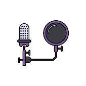 Filter, pop, microphone icon. Element of color music studio equipment icon. Premium quality graphic design icon. Signs and symbols collection icon