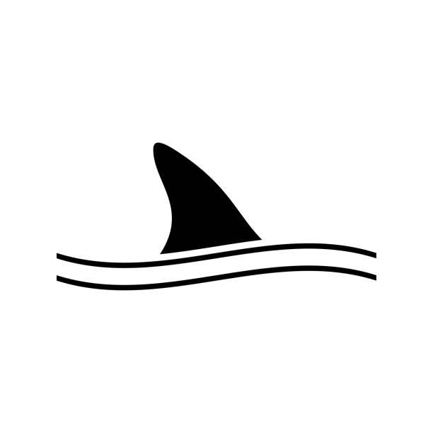 Fin of shark black icon . Fin of shark black icon . dorsal fin stock illustrations
