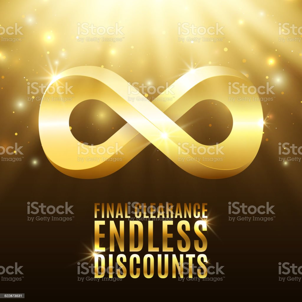 Final clearance, endless discounts vector art illustration