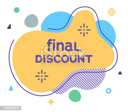 istock Final Discount Abstract Web Banner Illustration 1169100281