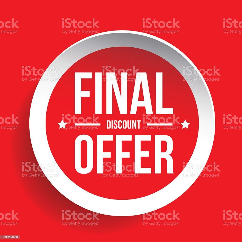 Final Discount Offer Round Label sticker royaltyfri final discount offer round label sticker-vektorgrafik och fler bilder på bildbakgrund