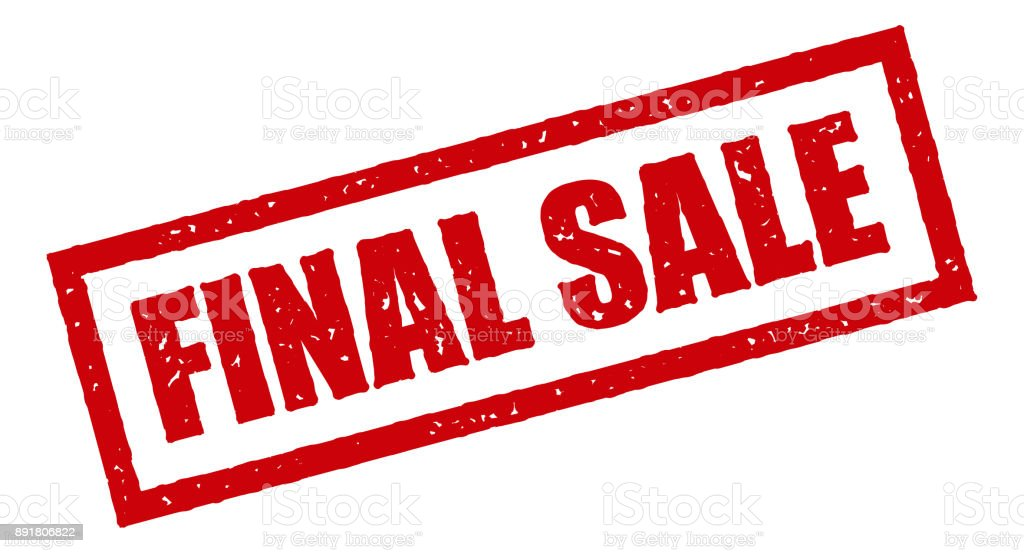 Final Sale Red Rubber Stamp Icon On Transparent Background Royalty Free