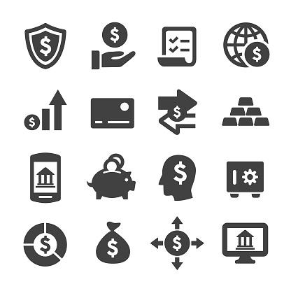 Finance Und Banking Icons Acmeserie Stock Vektor Art und mehr Bilder von Analysieren