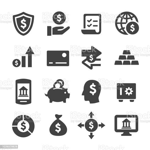 Finance And Banking Icons Acme Series Stock Illustration - Download Image Now