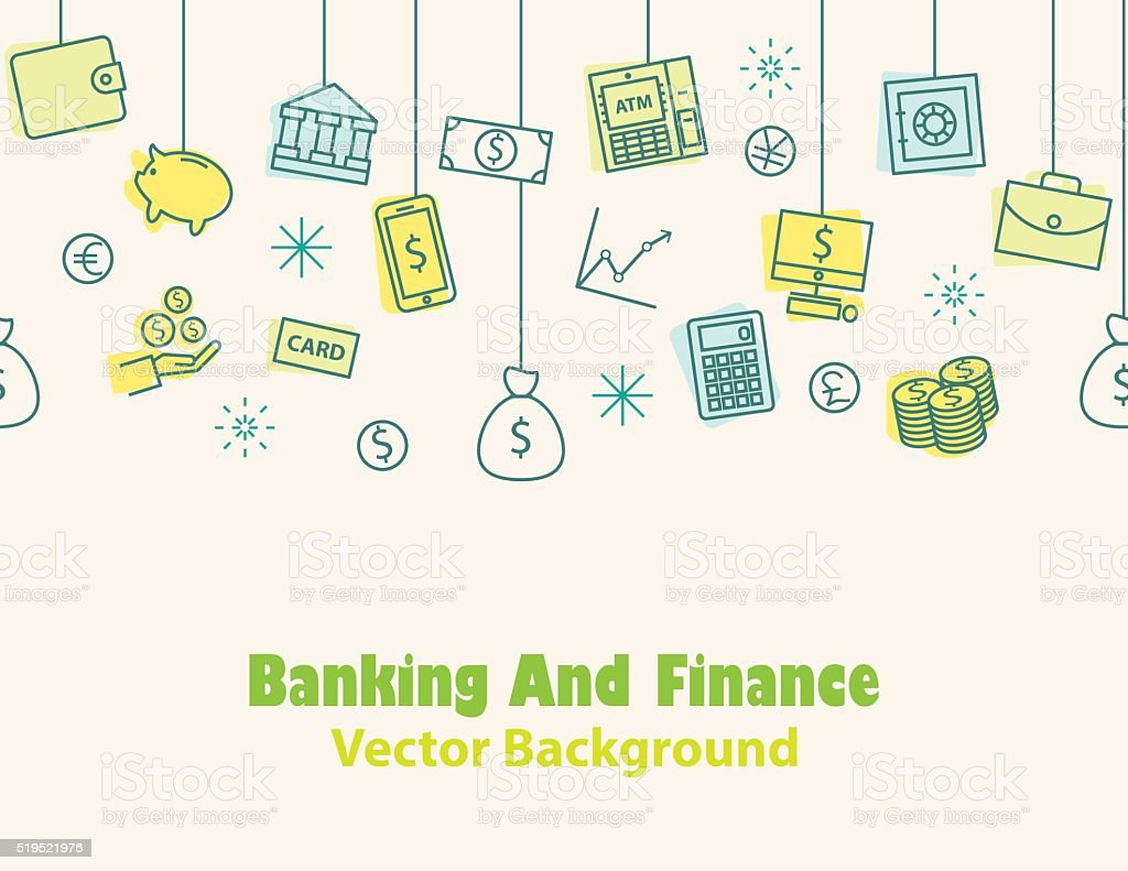 Finance and banking ,Money background , print , seamless vector art illustration