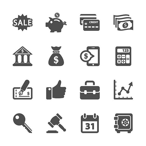finance and business icon set, vector eps10 finance and business icon set, vector eps10.. commercial event stock illustrations