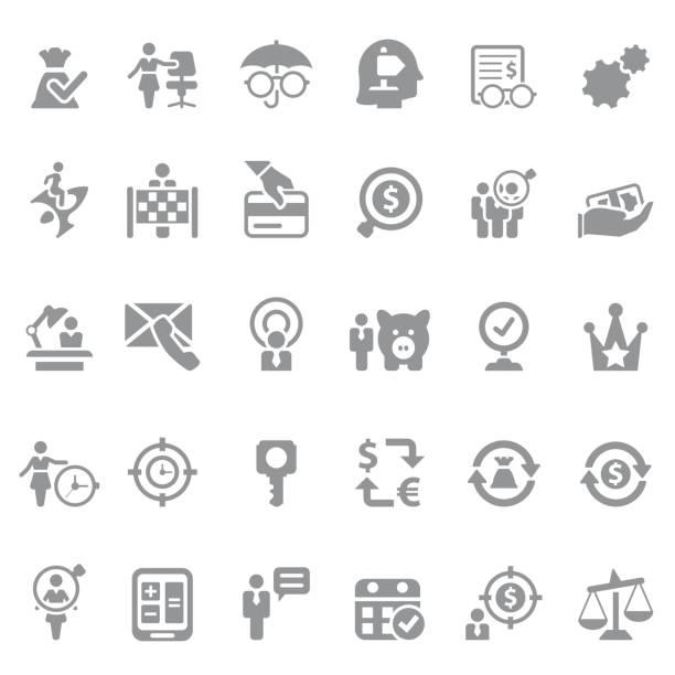 finanz- und business-icon-set - schlüsselfertig stock-grafiken, -clipart, -cartoons und -symbole