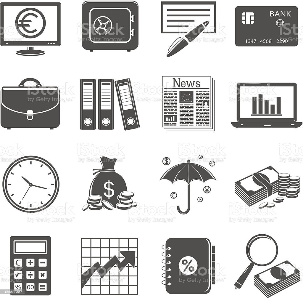 Finance and business icons. royalty-free finance and business icons stock vector art & more images of adult