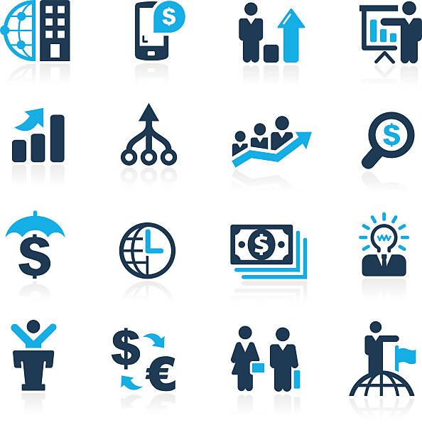 stockillustraties, clipart, cartoons en iconen met finance and business strategies - azure series - woman very rich