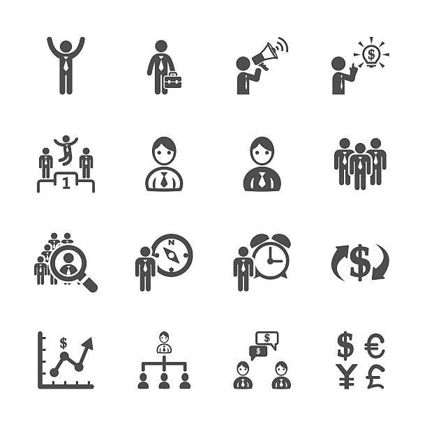 stockillustraties, clipart, cartoons en iconen met finance and human resource icon set, vector eps10 - 2015