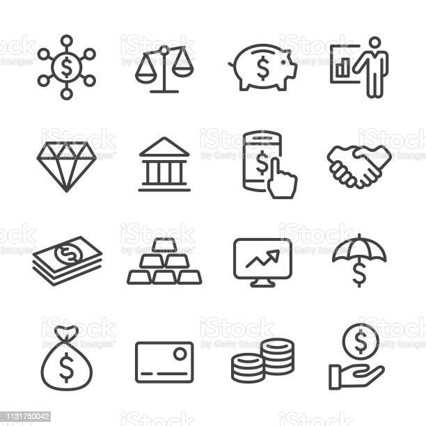Finance And Investment Icons Line Series Stock Illustration - Download Image Now