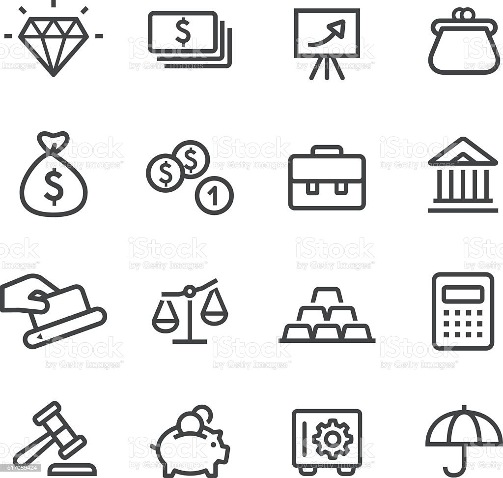 Finance and Investment Icons - Line Series vector art illustration