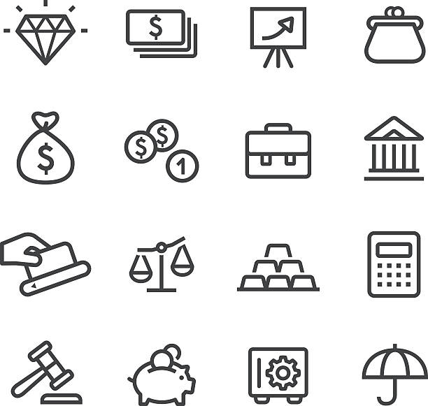 Finance and Investment Icons - Line Series View All: change purse stock illustrations