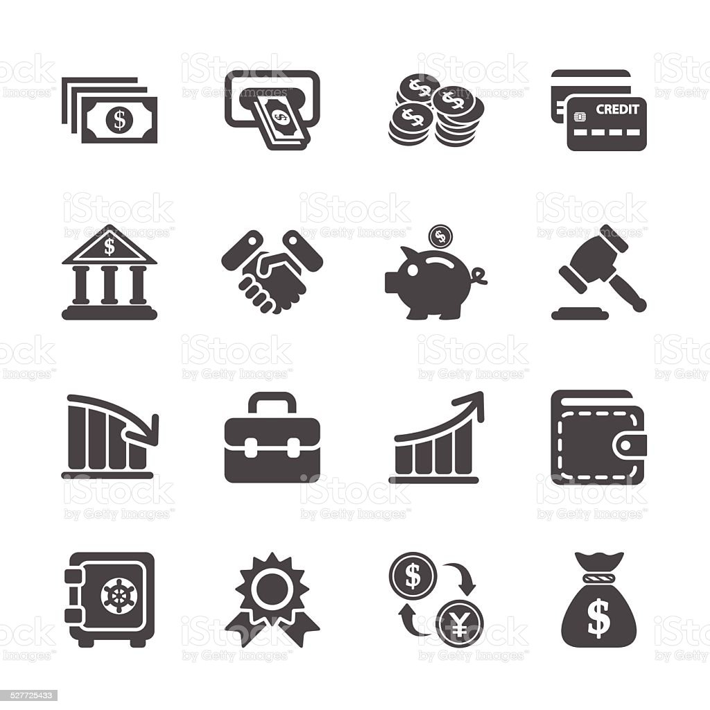 finance and money icon set, vector eps10 vector art illustration