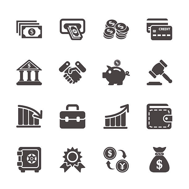 finance and money icon set, vector eps10 finance and money icon set, vector eps10. commercial event stock illustrations