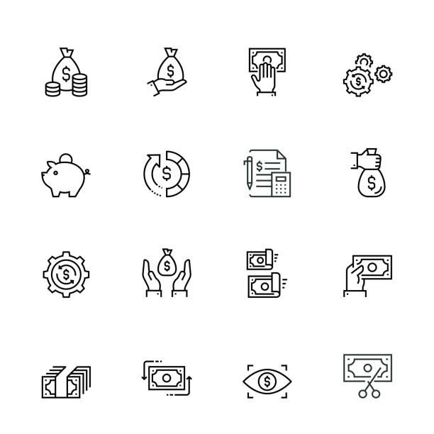 ilustrações, clipart, desenhos animados e ícones de jogo do ícone da finança e do dinheiro - empréstimo