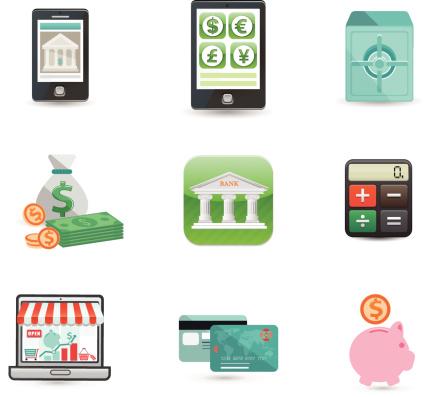 Finance and Money Icon Set