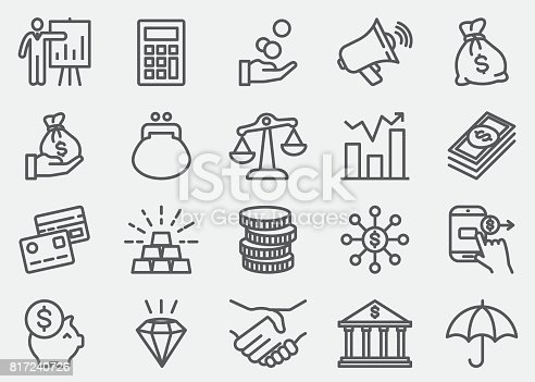 Finance And Money Line icons