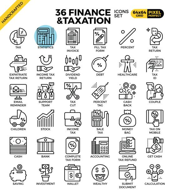 Finance and taxation vector art illustration