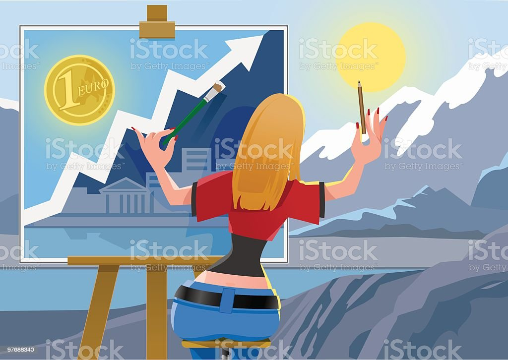 Finance Art royalty-free stock vector art