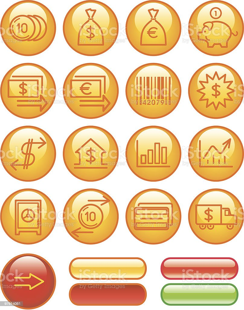 Finance, Banking Icon Set royalty-free finance banking icon set stock vector art & more images of bank